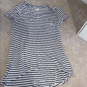 Stripped tunic tee
